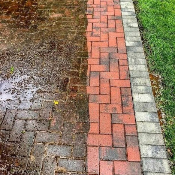 Brick Patio Before and After